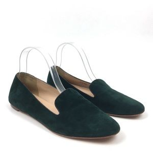 J. Crew Darby suede smoking loafer slipper flat